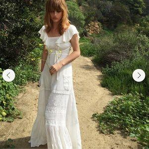 Spell Boho Bella backless white maxi dress